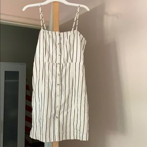 White striped fitted dress